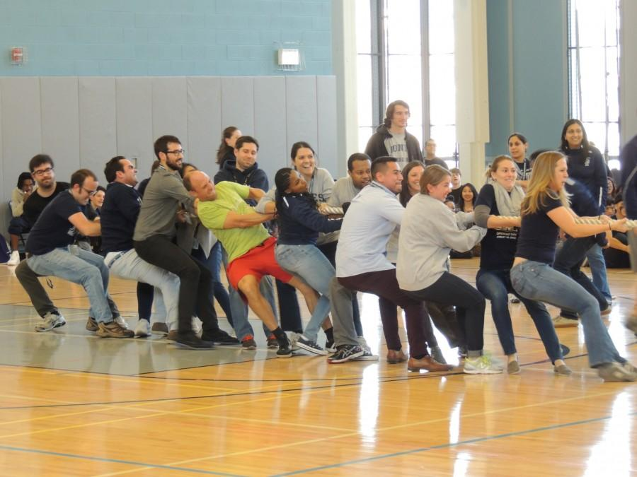 SWOLE: Jones Faculty Tug of War team defeated the student team comprised of four students from each grade level.