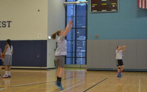 Sophie Brooks '16 Practicing her jump shot