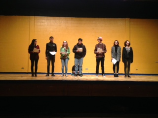 The cast of eight rehearses as they prepare for the performance on Friday, Jan. 23 at 4 pm and 7 pm.