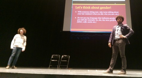 Colin Brown'15  and Brian Coleman lead a discussion about gender.