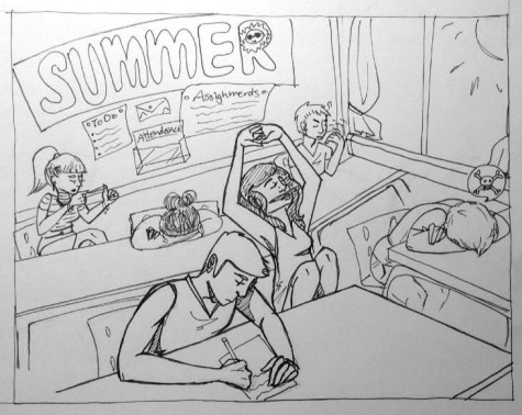 Summer  spent in school was anything but relaxing.