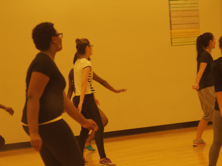 Students in CCAP's Urban Dance Program run through one of their dance pieces.
