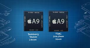 l showing the two different kind of chips that you may get in the newly release iPhone 6s. One showing Samsung which is smaller and has less performance compared to the TSMPT which is bigger