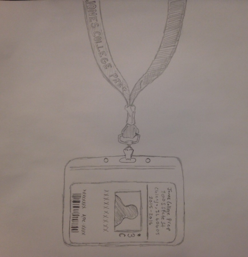 The+infamous+lanyard+that+every+Jones+student+is+required+to+wear+proudly+across+their+necks.