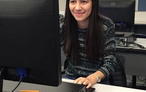 POWERFUL Patricia Guerrero '17 codes in Computer Science.  Photo courtesy of Olivia Landgraff '18