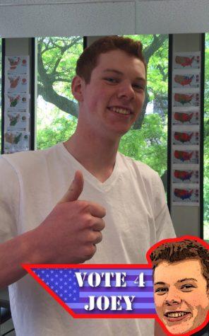 Joseph Bergren '17 uniquely used snapchat geofilters to campaign for class representative.