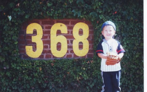 Ethan Soderna '17 at Wrigley Field as a child.