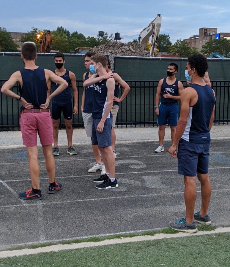 Graduating Seniors prepare for final lap around NTA track during banquet l Photo by Nikola Bilaver '21