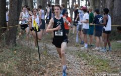 Andy Niser '21 during the Shazam Cross Country Championships. Photo courtesy of Andy Niser '21