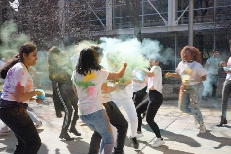 Last year's Holi Fest was celebrated in the Jones courtyard.