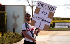 Fans Protest the Super League on April 20 after hearing the news