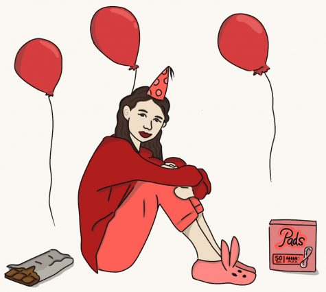Period parties are becoming increasingly popular in some western societies.  Graphic by Fiona Kogan 22